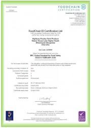BRC Certificate 2019/20