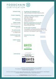 BRC Certificate 2021/22