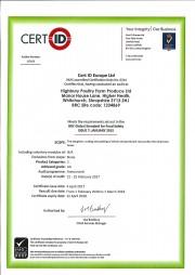 BRC Certificate 2017/18
